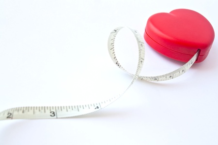 heart with measuring inside