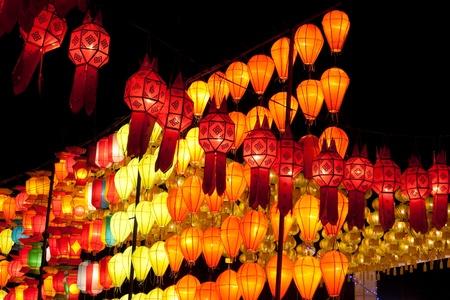 asian lantern in the nighttime