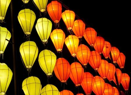 vietnamese lantern in the nighttime photo