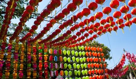 Asian lantern in the daytime photo