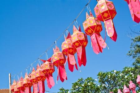 Lanna lanterns in the daytime