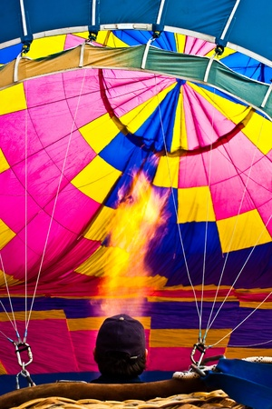 hot inflation to hot air balloon  Editorial