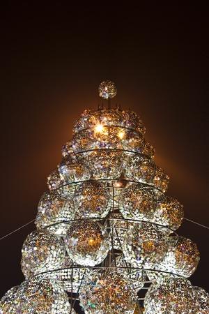 writable: christmas tree made of used-compact disk Stock Photo