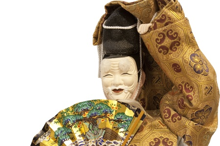 Noh ningyo doll : A japanese doll of a funny old man with his japanese mask