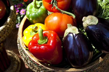 a group of colourful vegetable photo