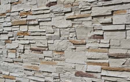 pattern of brick wall in side view