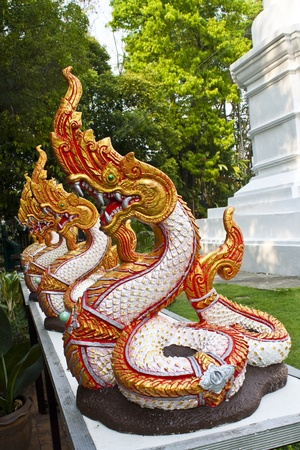 naga in a thai temple photo