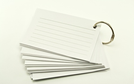 book of lined paper white ring binder on white background Stock Photo