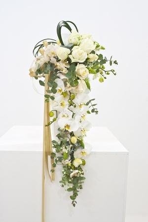 Weiße Blumen-Arrangement Für Hochzeitsstrauß Lizenzfreie Fotos ...