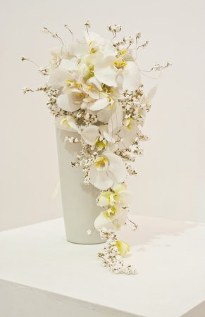 white flower arrangement for wedding bouquet photo