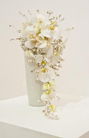 white flower arrangement for wedding bouquet photo
