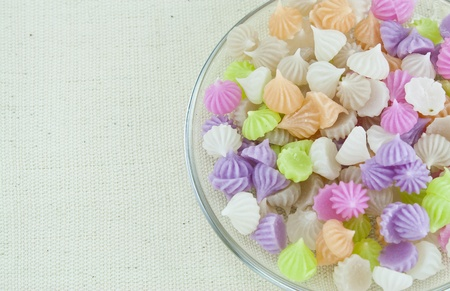 Thai dessert   Crispy Sticky Dumpling or A-Lua  crispy outside soft inside, and , sweet, creamy, and scented  Stock Photo