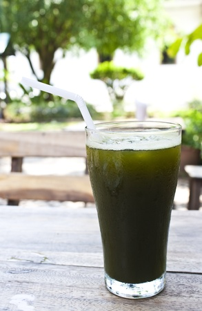 herbal drink   cold hydrocotyle juice in thailand  Hydrocotyle leucocephala