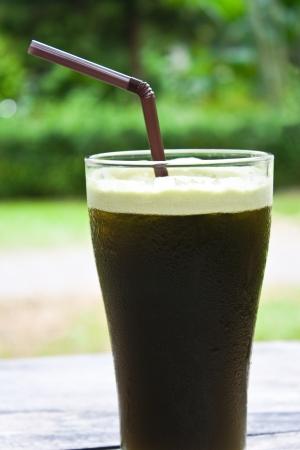 mixed fresh thai herbal juice, hydrocotyle,peppermint,lemongrass photo