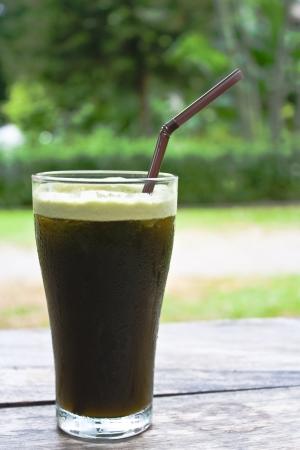 mixed fresh thai herbal juice, hydrocotyle,peppermint,lemongrass