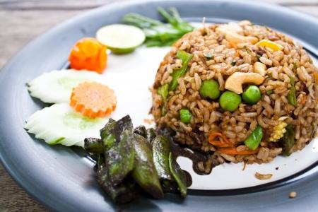 herbal fried rice  curry flavor  - vegetarian thai food, healthy food photo