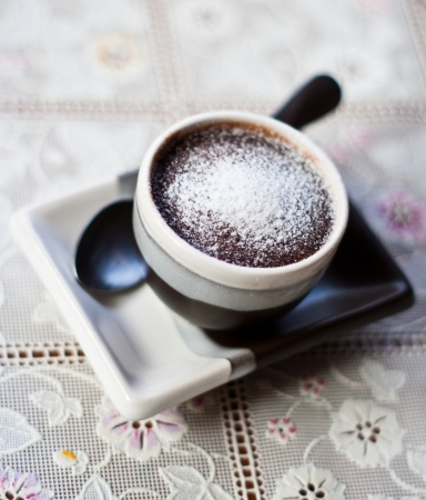 cute cup of chocolate cake photo