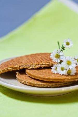 dutch waffle (stroop wafel) photo