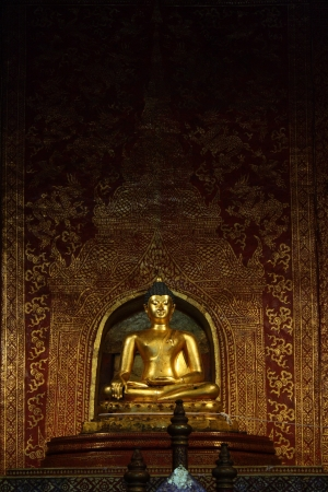 Phra Buddha Si Hing, one of most famous Buddha image in Thailand, Wat Phra Sing, Chiang Mai, Thailand photo