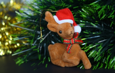 decorative deer for christmas celebration Stock Photo