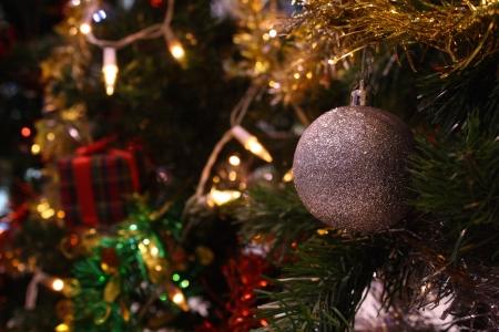 decorative ball on christmas tree  Stock Photo