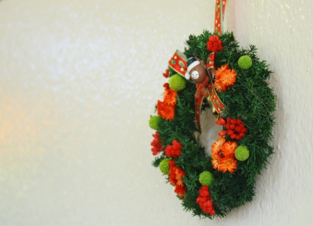 Beautiful Christmas wreath photo