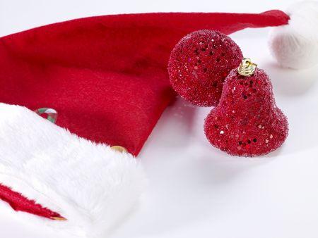 cappello natale: Red Hat Natale Archivio Fotografico