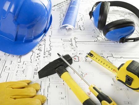 Construction tools Banque d'images