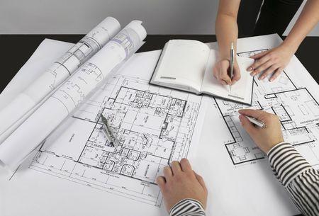 Architectes s�ance  Banque d'images