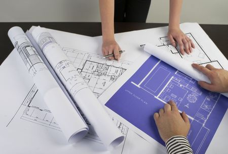 Architects meeting Stock Photo