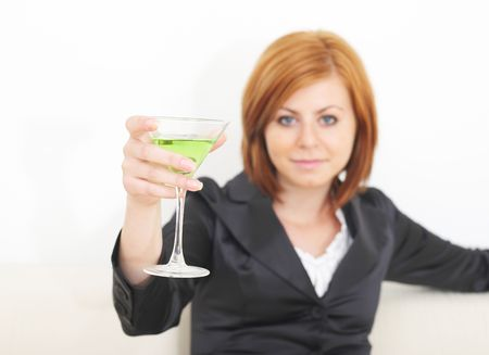 Woman with martini Stock Photo - 2290903