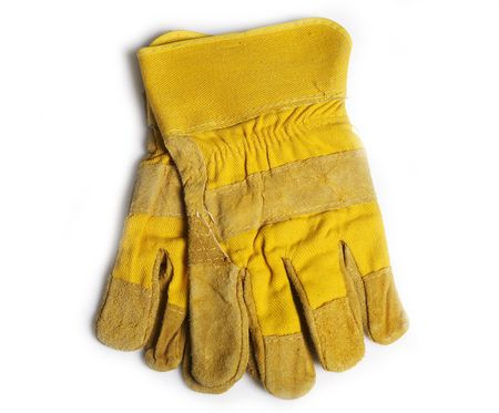 architect tools: Protection gloves Stock Photo