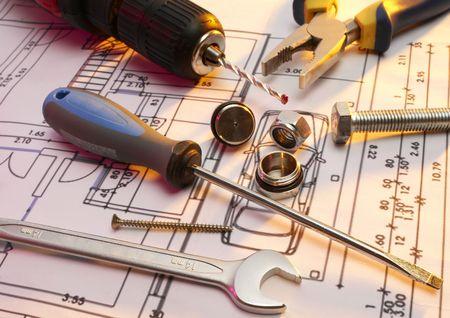 Construction tools series Stock Photo