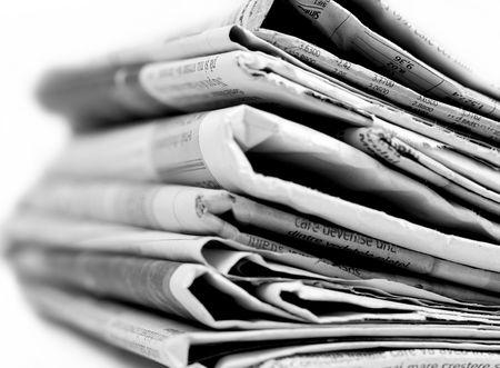 Kranten serie Stockfoto