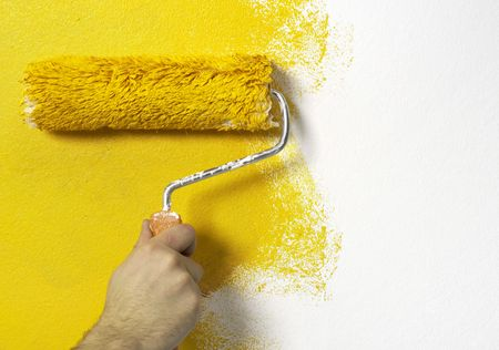 Painting the wall photo