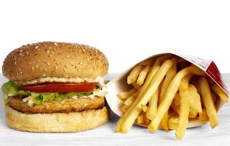 hamburguesa de pollo: Serie de la hamburguesa Foto de archivo