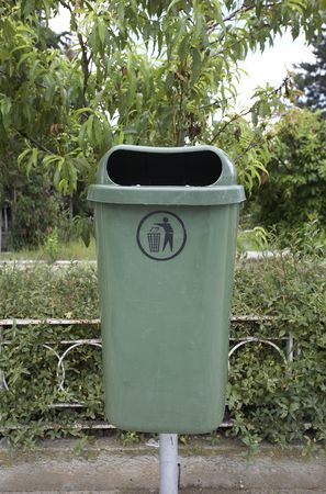 garbage can: Garbage can Stock Photo