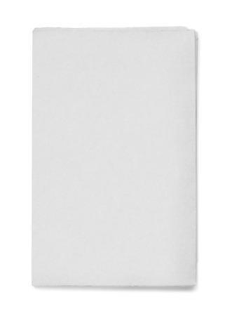 Blank grey newspaper on white background Stock Photo