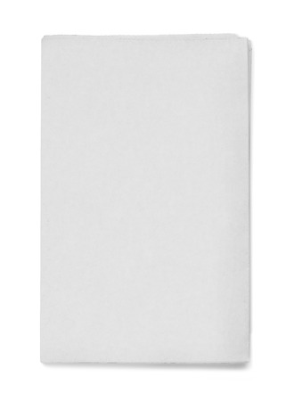 Blank grey newspaper on white background Banque d'images