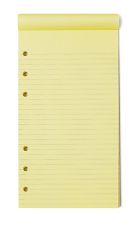 to do list: Yellow notepad on white background