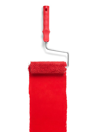 Paint roller isolated on white Archivio Fotografico