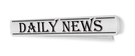 short phrase: Newspaper, isolated on white