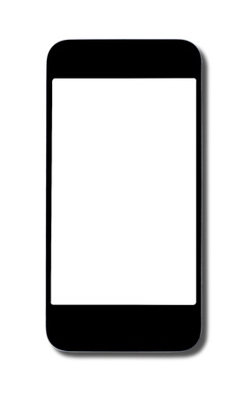 man made object: Smart phone isolated on white