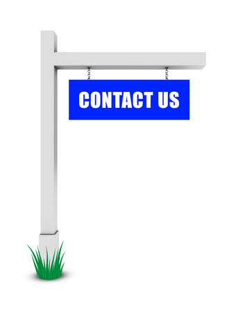 three dimensional accessibility: Contact us banner on white background
