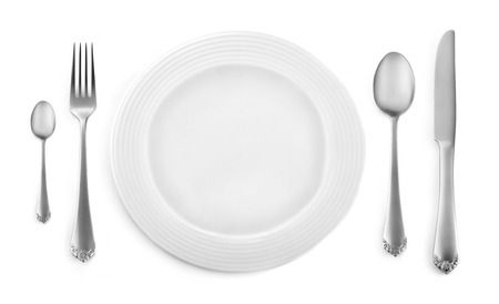 Classic dinner place setting Stockfoto