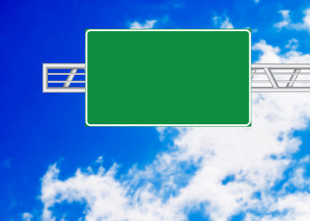 highway signs: Highway sign over blue sky