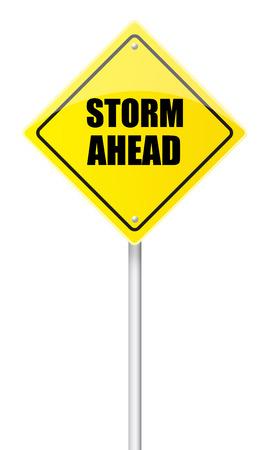 Storm ahead road sign photo