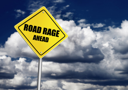 road rage: Road rage sign Stock Photo