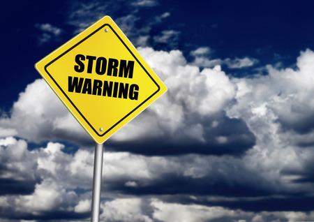 Storm warning road sign photo