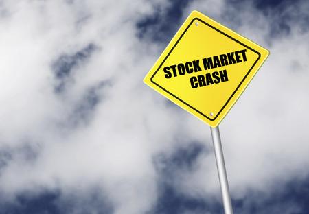 stock market crash: Stock market crash sign